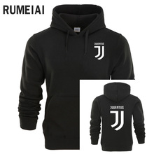 RUMEIAI Juventus Print Hoodies Men 2017 Autumn Winter Men Women Fleece Long Sleeve Sportswear pullover Hooded Sweatshirt