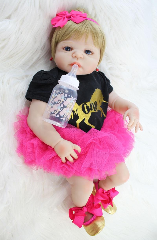55cm Full Silicone Reborn Baby Doll Toy 22