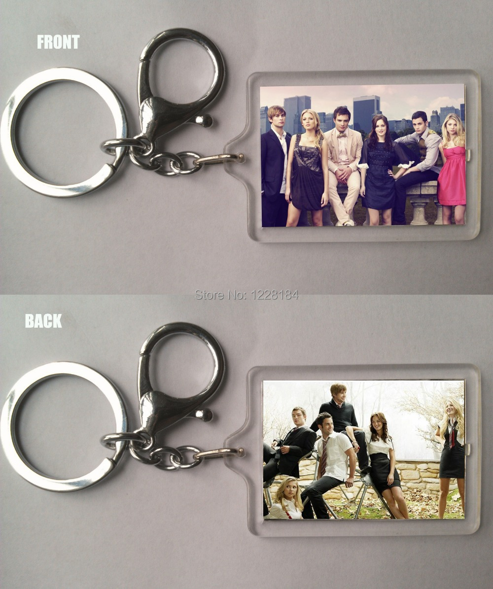 Gossip Girl Acrylic key chain two pictures inside Factory Outlets