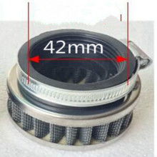 free shipping Round head motorcycle air filter waterproof Modified mushroom large flow for Inside diameter 42mm