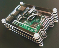 Raspberry Pi 3&Raspberry Pi 2 Model B Acrylic Clear Case Cover Shell Enclosure Box ABS 9 Durable Laminates