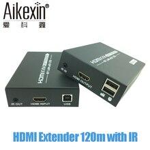 Aikexin HDMI extender 120 m com IR sobre Cat5/Cat5e/Cat6 Rj45 Ethernet LAN Rede de Apoio 1080 P HDMI Transmissor Receptor