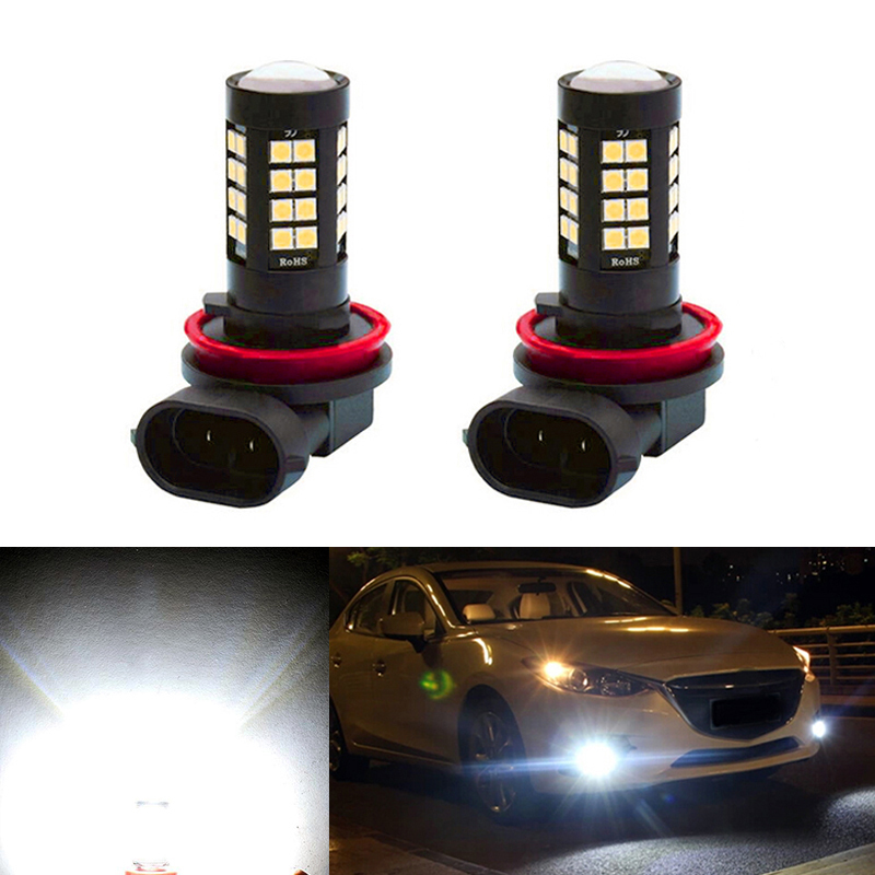 2x Super White <font><b>H8</b></font> H11 <font><b>CREE</b></font> Chip 3030 <font><b>LED</b></font> Fog Light Driving Bulbs For mazda 3 5 6 xc-5 cx-7 axela atenza image