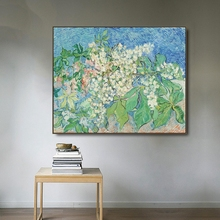 Castanea Flowers by Vincent Van Gogh Poster Print Canvas Painting Calligraphy Wall Pictures for Living Room Bedroom Home Decor