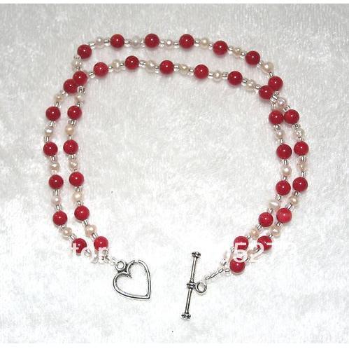 038a328f2e34 ツ)_/¯Joyería de La Perla natural coral rojo y blanco perla de agua ...