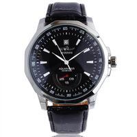 New 2016 Fashion Top Brand WINNER Men Clock Leather Band Auto Date Mechanical Automatic Self Wind