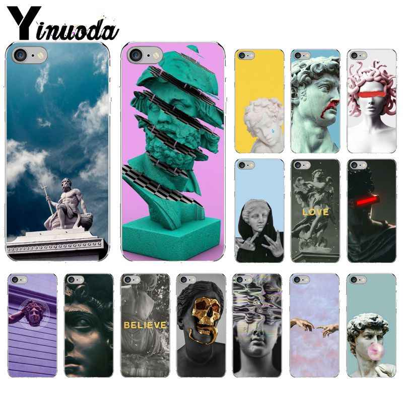 Yinuoda Alternative statue art TPU Soft Silicone Transparent Phone Case for Apple iPhone8 7 6 6S Plus X XS MAX 5 5S SE XR Mobile