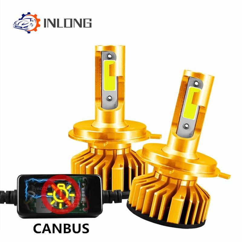 Вдлительную мини Canbus без ошибки H7 светодиодный дальнего фар автомобиля 12V 12000LM 4300 К 6000 8000 ксеноновая лампа H4 H1 9005 HB3 9006 HB4 H8 H11 светодиодный лампы