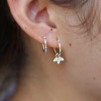 Mode Schmuck 925 sterling silber Ohrring Für Frauen cz Hangling Drop Ohrringe Stein Pendientes Mujer silber Earing