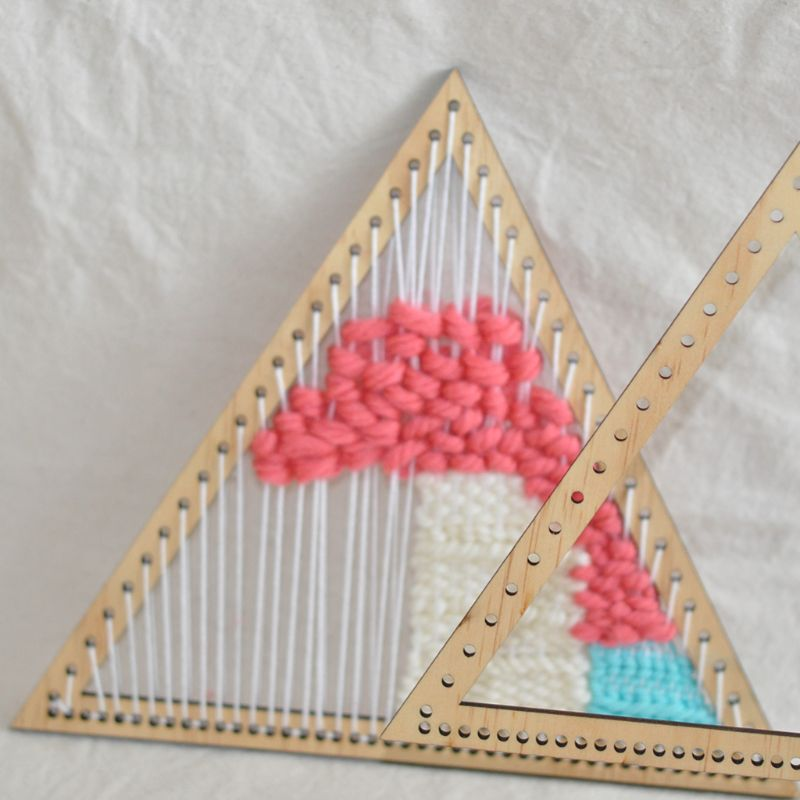Woven Tools DIY Hanging Decoration weaving loom wooden triangle  knitting