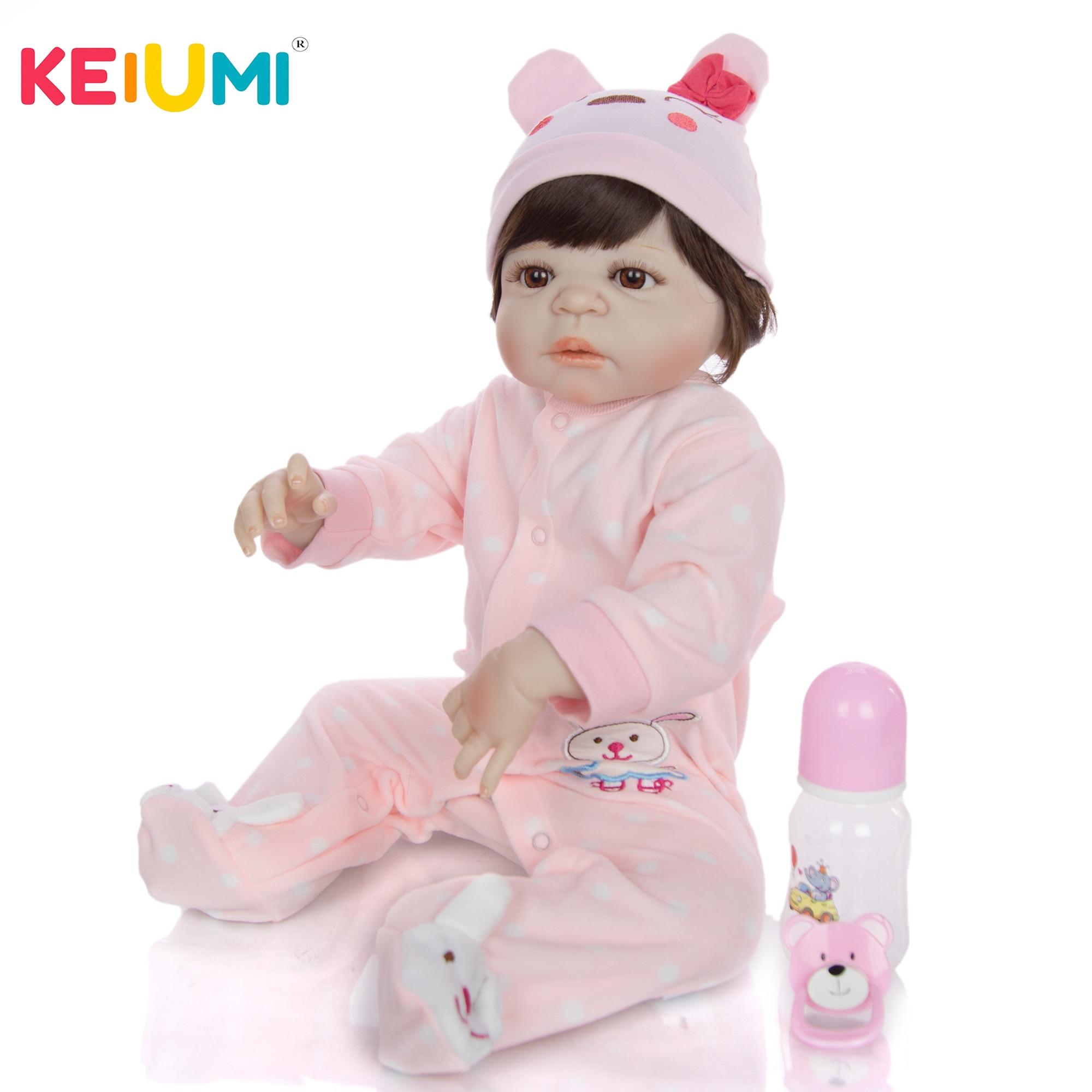 Realistyczne 23 Cal Reborn Boneca 57 Cm pełna silikon winylowe noworodka dziewczyna dzieci moda realistyczne zabawki dla dzieci dla małych dzieci dla dzieci prezent w Lalki od Zabawki i hobby na  Grupa 1