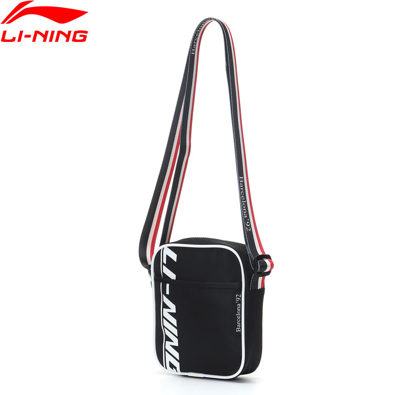 Li-Ning Unisex The Trend Crossbody Bag 1L Color-block Strap Polyester Leisure Li Ning LiNing Sports Shoulder Bags ABDP156 BJF147