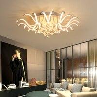 Поверхностный монтаж Кристалл Современные светодио дный светодиодные потолочные светильники для дома декоративная спальня гостиная стол