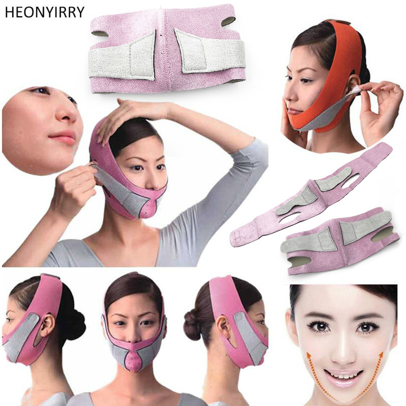 Face Lift Tools Thin Face Mask Slimming Facial Thin Masseter Double Chin Skin Thin Face Bandage Belt Women Face Care Beauty Kit red color silicone face slim lift up belt facial slimming massage band mask personal beauty gift