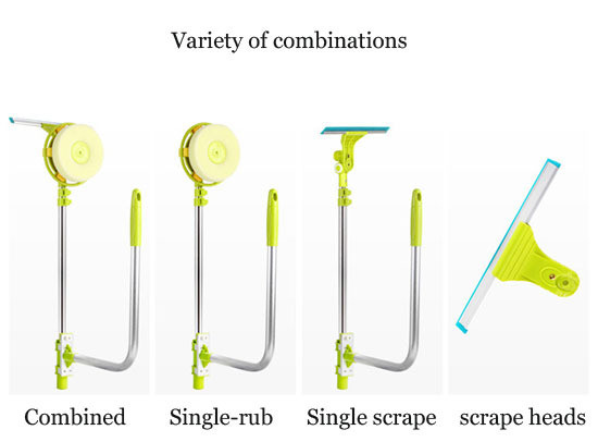 telescopic High-rise window cleaning glass cleaner brush for washing windows Dust brush clean the windows  hobot 168 188 (7)