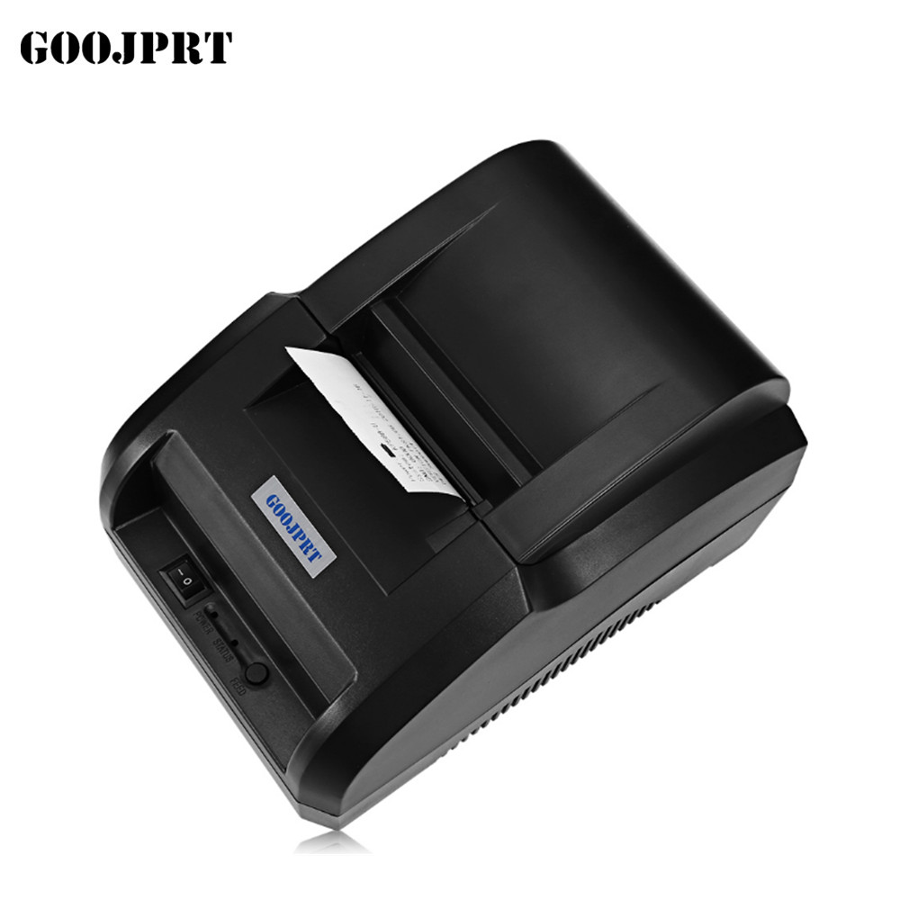 qara USB Port 58 mm istilik qəbulu pirnter POS printer mini printer printer istilik