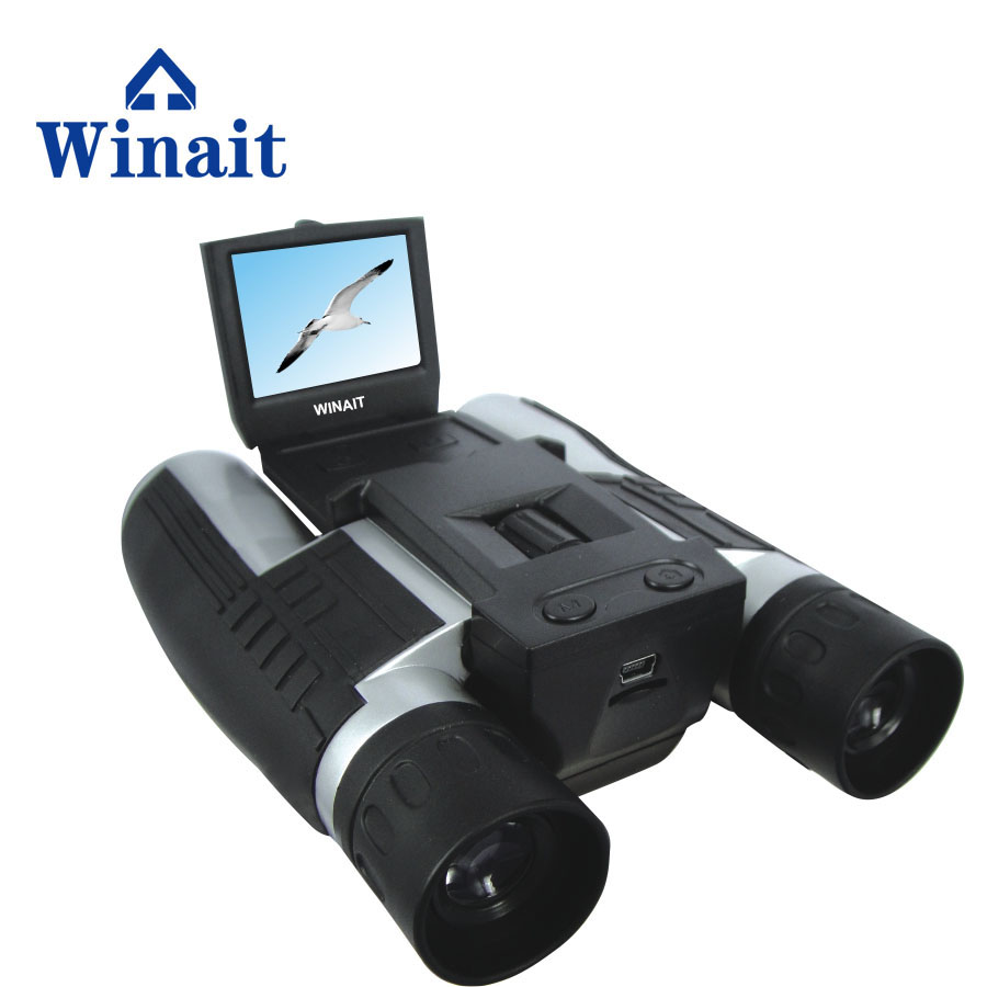 "Winait Full hd 1080p digital binocular video camera with 2.0"" TFT display/rechargeable lithium digital telescope camera"