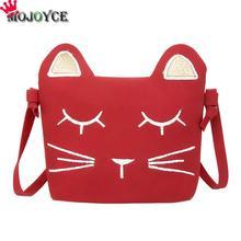 Дети принцессы сумка девушка животный принт мини PU Для женщин Сумки на плечо 3 цвета милый кот детские сумки