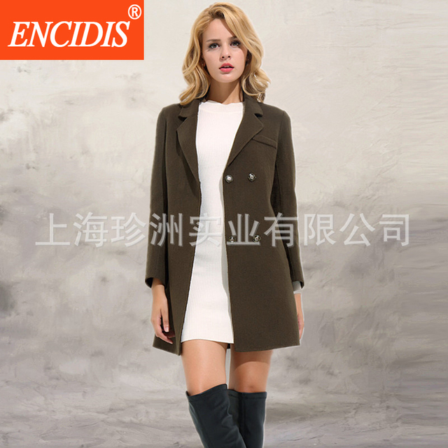 2016 Hot selling Female Trench Coat Winter and Autumn Short Overcoat Women Coats Slim Windbreaker Solid Outerwear F155