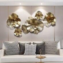 Европейский кованый цветок на стену, украшение для дома, гостиной, дивана, фоновая Наклейка на стену, Настенные обои под металл, украшения