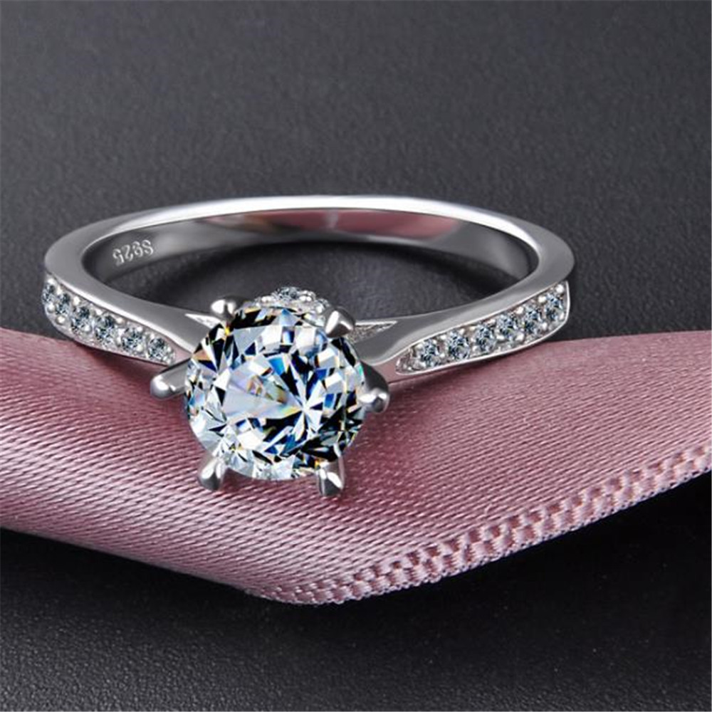 2019 YKNRBPH 100% 925 Pure Silver Engagement Ring S925 ...