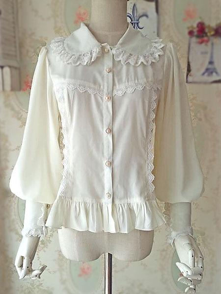 Chemisier Lolita manches longues robe Lolita en coton à volants robe Lolita sans manches fleur de prunier imprimé robe Lolita!