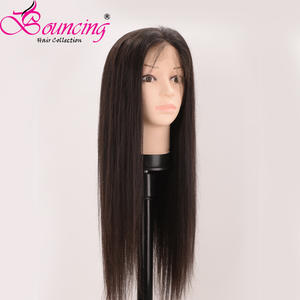 Lace Wigs Human-Hair-Wigs Natural-Color Women Hair Brazilian Pre-Plucked Bouncing