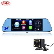 Udrive 7 дюймов 3 Г GPS Навигации Android 5.0 DVR HD 1080 P Video Recorder Bluetooth Заднего Вида с Двумя Объективами Камера Wi-Fi GPS Зеркало DVR