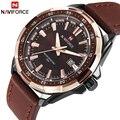NAVIFORCE Herren Uhren Top Luxus Marke Mode Sport Uhren Männer Wasserdichte Quarzuhr Männlichen Armee Militär Leder Armbanduhr
