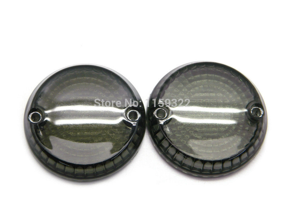 cheapest Motorcycle Smoke Clear Turn Signals Indicators Lens Cover Front Rear For Kawasaki Vulcan 500 1500 for Yamaha Warrior 2001-2007