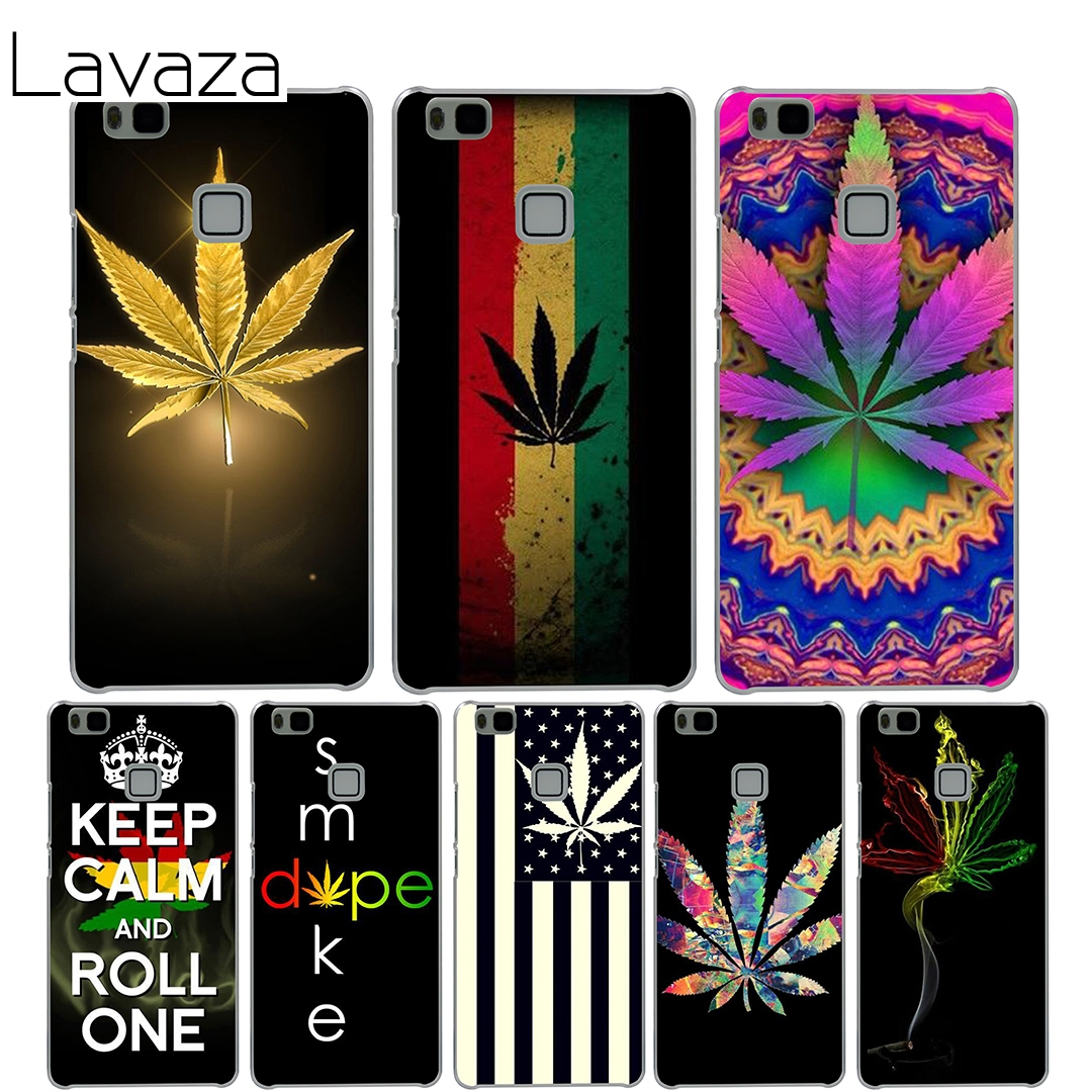 Lavaza Psychadelic Smoke Weed Pot Leaf Case for Huawei Mate 10 9 P20 P10 P9 P8 Lite Plus Pro Mini 2017 P smart cover