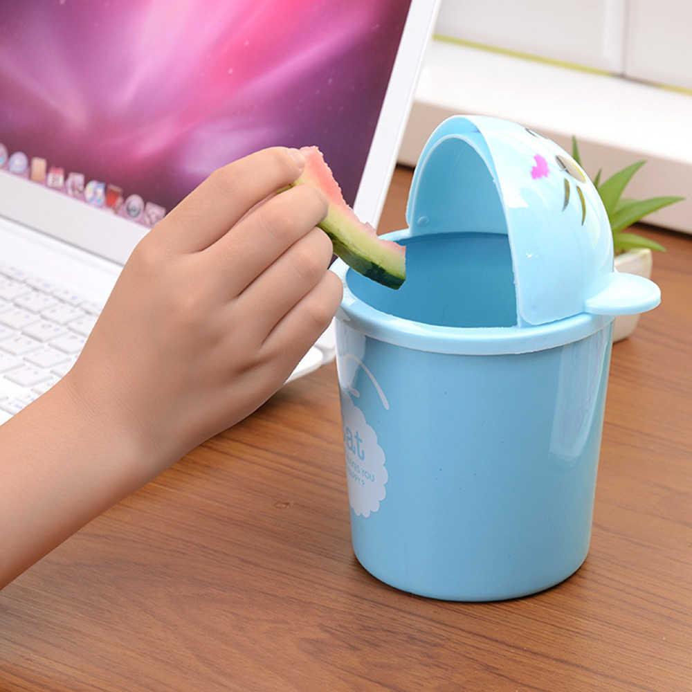 Mini cubo de basura de escritorio creativo de Wheelie, Cubo de plástico, cubo de basura, Mini cubo de basura, tijeras pequeñas, reglas de la taza de lápiz
