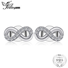 Jewelrypalace 925 Sterling Silver Earrings Stud Earrings Infinity Love Cubic Zirconia Brid