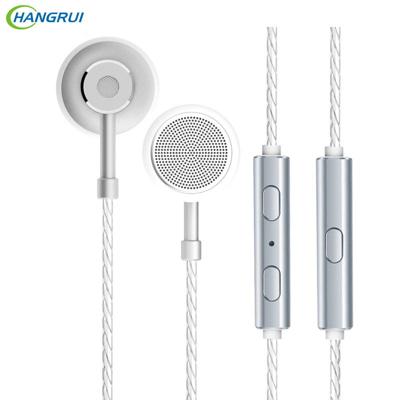 HANGRUI Type C In ear Earphone Noise Reduction Headsets For Huawei For Sony Flat earbuds With Microphone For xiaomi smartphone newest original huawei honor engine earphone am116 with microphone remote 3 5mm in ear earbuds for pc huawei xiaomi mobile phone