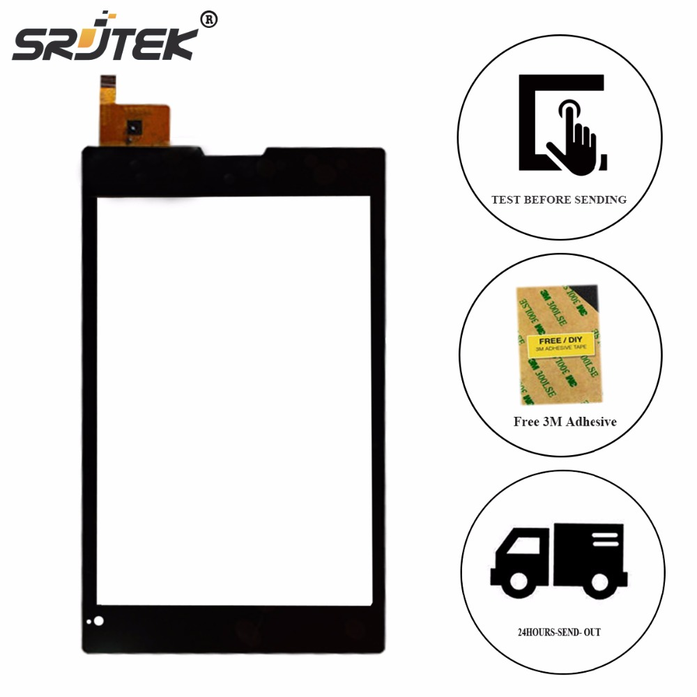 Srjtek 7 inch Digitizer Glass For FPC080-0908AT Touch Screen Tablet PC Panel Sensor Replacement Parts FPC080-0908AT Touchscreen black color touch panel for 7 inch tablet pc mglctp 701271 touch screen panel digitizer sensor