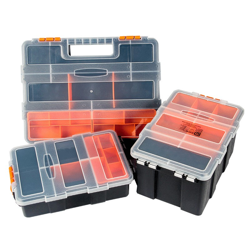 Accessories Toolbox Screwdriver Hardware  Auto Repair Tool Box Practical ABS Plastic Screw Tool Storage Box With Locking