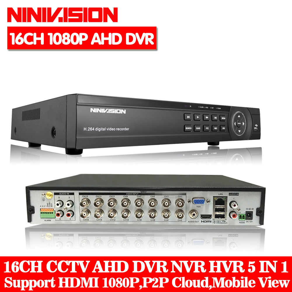 16 Channel AHD DVR 1080P 16CH AHD/CVI/TVI DVR 1920*1080 2MP CCTV Video Recorder Hybrid DVR NVR HVR 5 In 1 Alarm Security System cctv dvr hvr 16ch ahd nvr 2mp 1080p hybrid digital video recorder rs485 audio in audio out for network ip camera cctv camera
