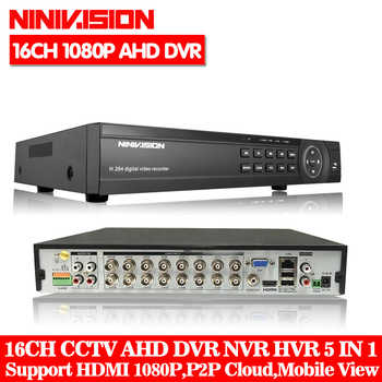16 Channel AHD DVR 1080P 16CH AHD/CVI/TVI DVR 1920*1080 2MP CCTV Video Recorder Hybrid DVR NVR HVR 5 In 1 Alarm Security System - DISCOUNT ITEM  49% OFF Security & Protection