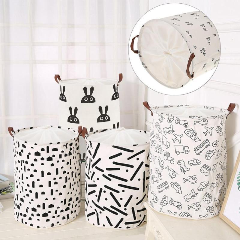 Plegable cesta de ropa sucia caja de almacenamiento de gran capacidad ropa juguetes bolsa de lavado impermeable cesta