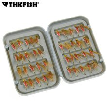 40 Pcs Lures Fly fishing Baits With Hooks Insects Style Salmon Flies Trout Single Dry Fly Fishing Lure With Box Fishing Tackle