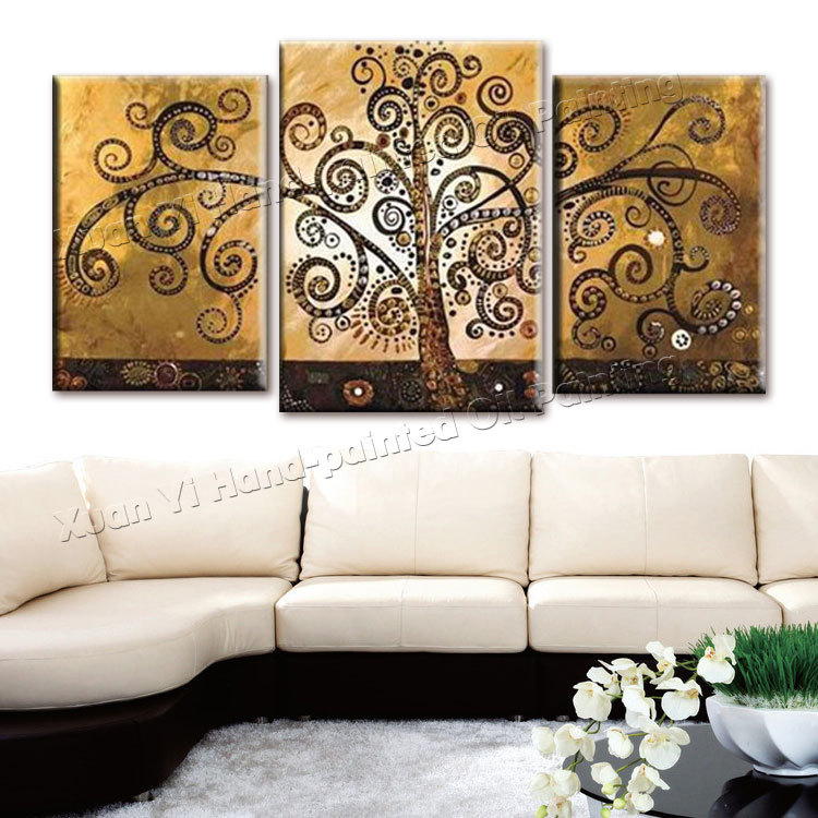 3 Piece Canvas Wall Art Hand Painted Canvas Abstract Oil ...