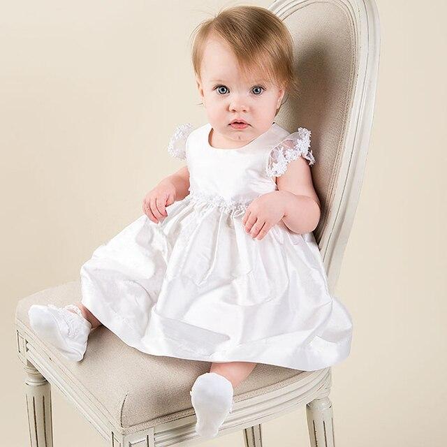 2016 Новый Белый и Теленок Летом Стиль Длина Пола Короткие рукавами Ребенка Платье Vestido Де Noiva Театрализованное Платья для Маленьких девушки