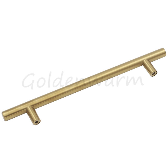 brass cabinet pulls. Brushed Brass Gold Cabinet Pulls Hole Centers 6.3\ N