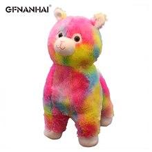 1 шт. 45 см Милая красочная плюшевая игрушечная Альпака kawaii Rainbow Alpacasso овечка лама Куклы Мягкие подушки детские подарки на день рождения
