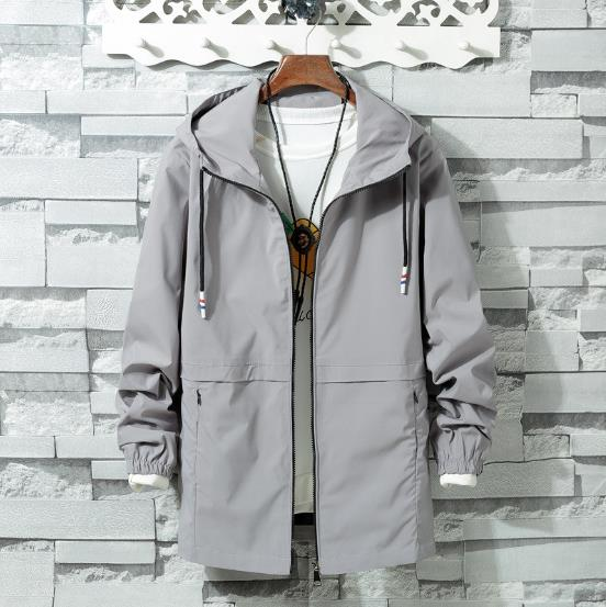 cc0bef937ddf 2018 New Spring Summer Mens Fashion Outerwear Windbreaker Men  S Thin  Jackets Hooded Casual Sporting Coat Big Size 6XL 7XL 8XL-in Jackets from  Men s ...