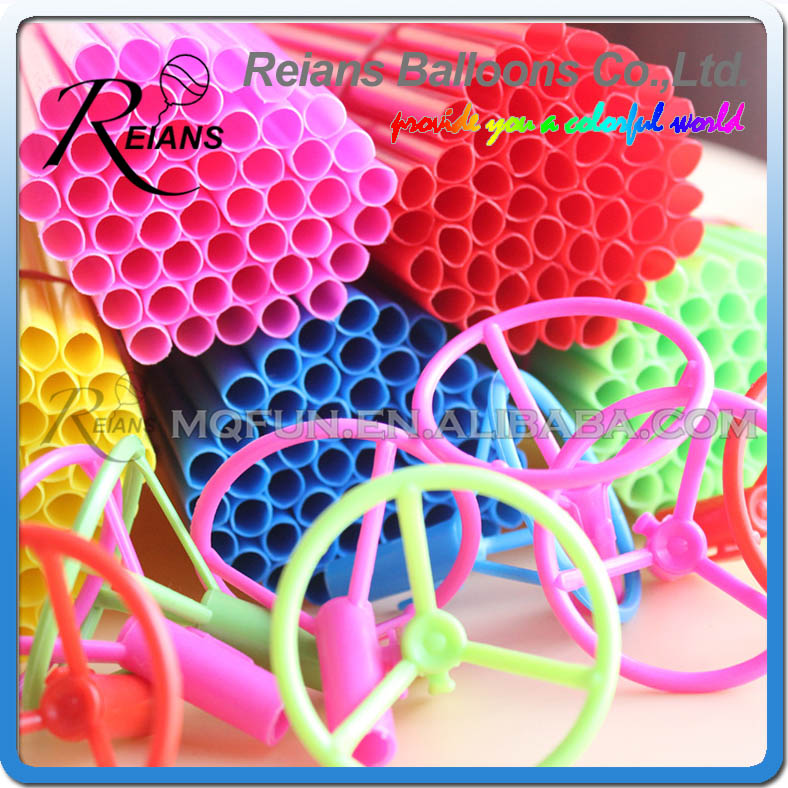 300pcs lot REIANS Latex Balloon Stick Rods Plastic Balloon Accessories 40cm Balloon Holder Sticks Cup Wedding