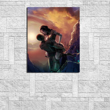 Mass Effect Shepard And Tali Wallpapers Canvas Painting Print Living Room Home Decor Modern Wall Art Oil Painting Poster Picture(China)