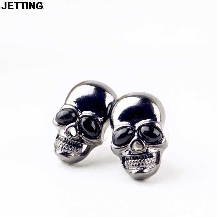 JETTING 1Pair Hot Selling Punk Stud Earrings Womens Stud Earring Womens Skull Earring Girls Women Fashion Jewelry