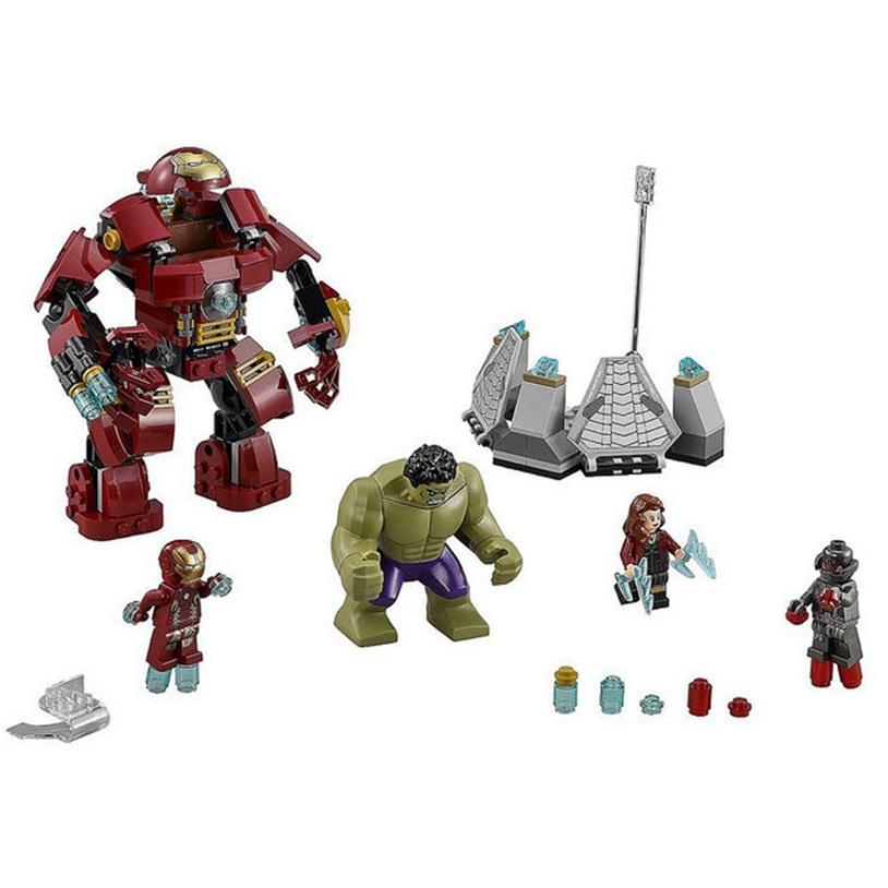 7110 Compatible Legoed 76031 Marvel Super Heroes Avengers Building Blocks Ultron Figures Iron Man Hulk Buster Bricks Toys Gifts