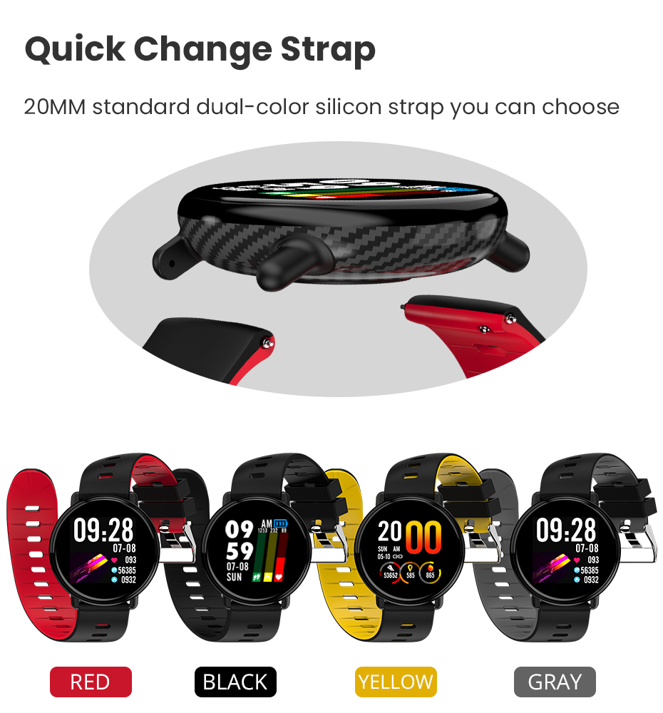 Virtoba A1 Bluetooth Smart Watch Men Women Full Touch Screen Activity Fitness Tracker Heart Rate Monitor 3D UI Smartwatch NEW 11